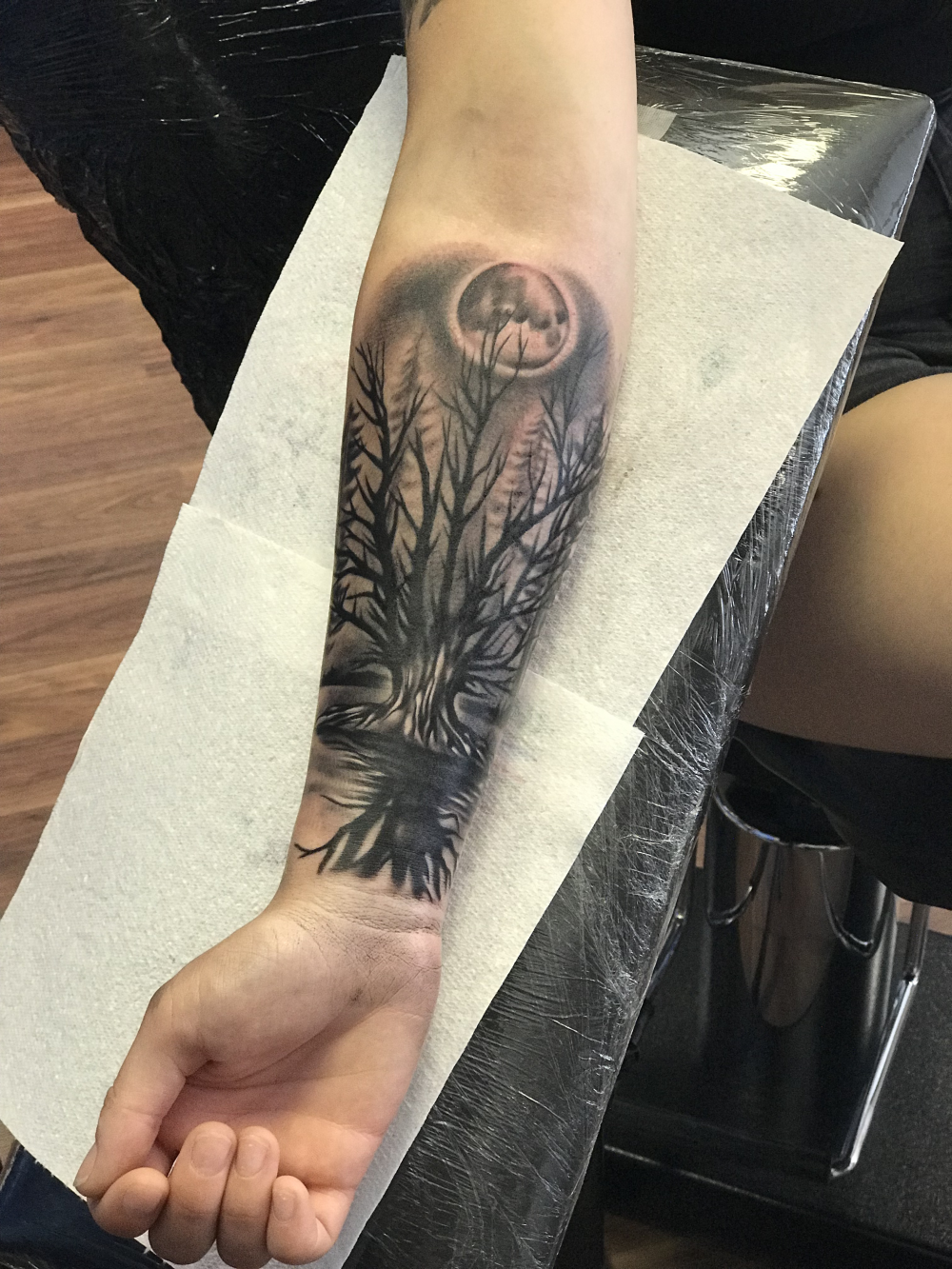 Forearm piece part of full sleeve pro