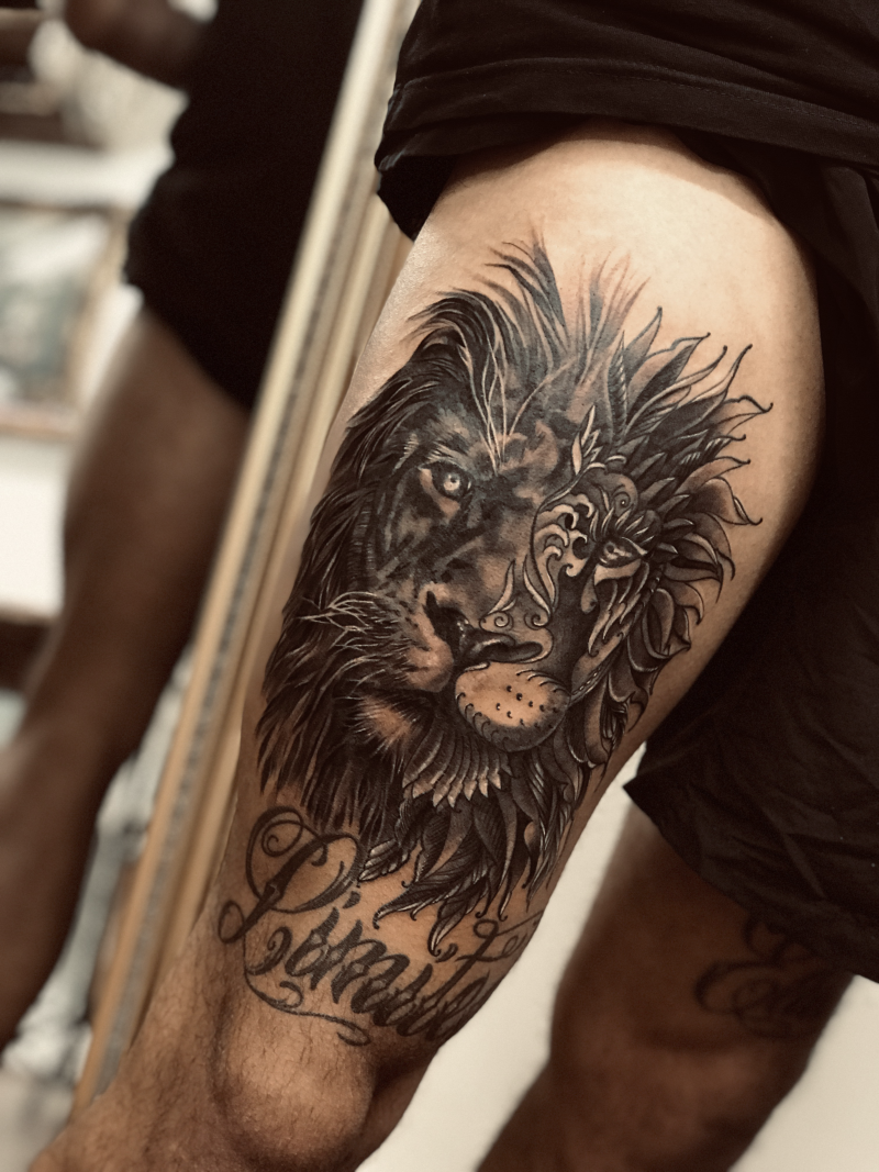 Thigh piece by Esther
